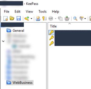 KeePass 2 UI